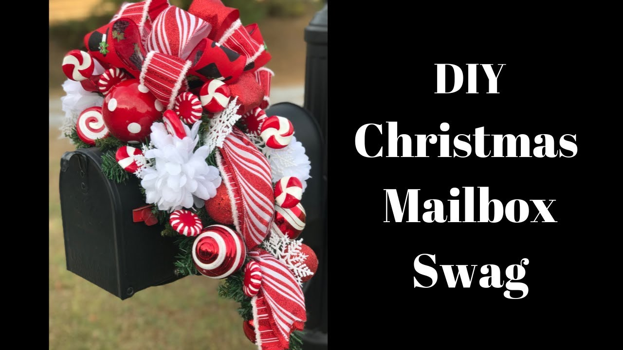 How To Make A Christmas Mailbox Swag Diy Holiday Mailbox Swag Youtube