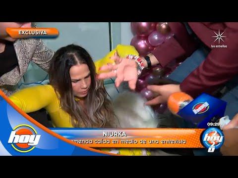 ¡QUÉ SUSTO! Niurka se cae durante una entrevista | Hoy
