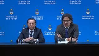 Declaraciones a la prensa de los ministros Dante Sica y Germán Garavano