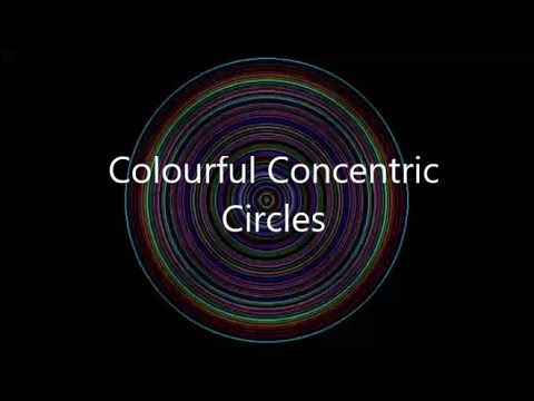 Colorful Concentric Circles Animation C++ Program - YouTube - animation circles