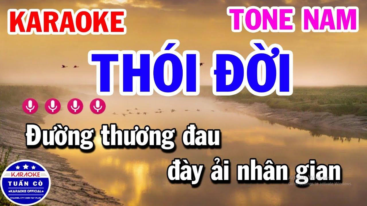 Karaoke Thói Đời Tone Nam Cm Nhạc Sống Rumba