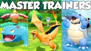 Pokemon Lets Go Pikachu and Eevee - Starters Master Trainer Challenges