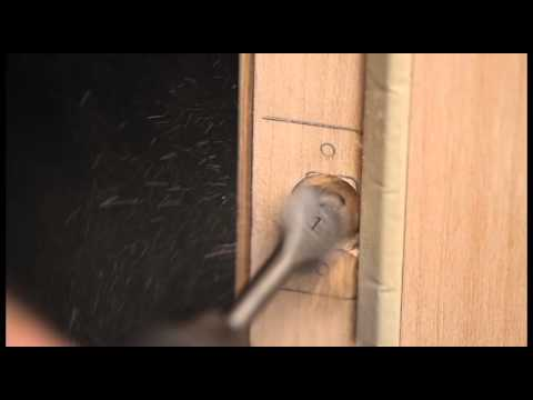 Installing A Latch Bolt Strike Plate Non Mortise Door   Video 6