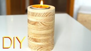 DIY  ★ Kerzenständer  aus Holz Anleitung