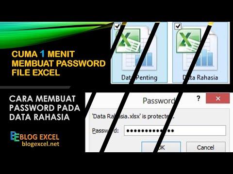 Cara Membuat Password di File Excel