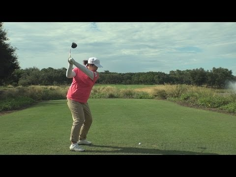 SHANSHAN FENG - DOWN THE LINE DRIVER GOLF SWING 2013 - REG & SLOW MOTION - 1080p HD