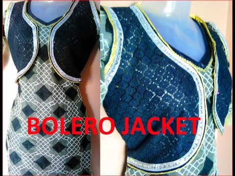 Bulero jacket or punjabi koti for kurti drafting cutting and stitching DIY thumbnail