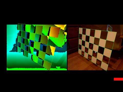 Intrinsic Kinect Camera Calibration with Semi-transparent Grid
