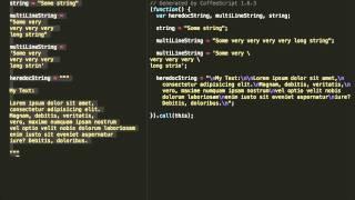 Курс по Coffeescript. Типы данных. 03