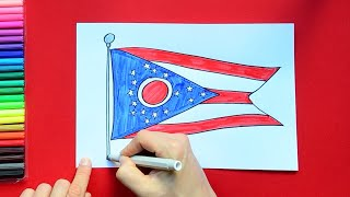How to draw and color the Flag of Ohio State, USA