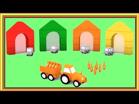 MAGIC BOWLING! ⭐︎ Smart Cars Learn Colors ⭐︎ CGI Cartoons for Children video xe tải lớn/큰 트럭 农行