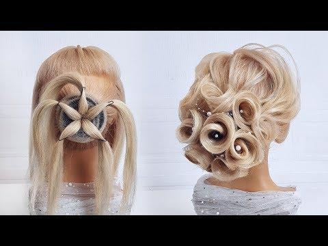 Красивые прически пошагово.Свадебная прическа на длинные волосы.Прическа из роз