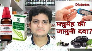 Syzygium Jambolanum ! Homeopathic medicine for Diabetes? मधुमेह की जामुनी दवा??