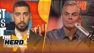 Warriors cannot win Game 3 without Klay Thompson, talks AD trade – Nick Wright | NBA | THE HERD