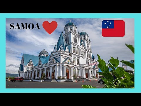 SAMOA, APIA'S spectacular CATHOLIC CATHEDRAL (South Pacific Ocean)