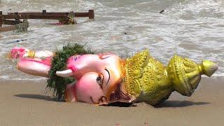 சென்னையில் விநாயகர் சிலைகள் கரைப்பு Vinayagar Statutes Droped in Sea Vinayagar Oorvalam