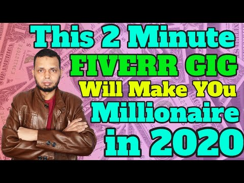 Fiverr Pakistan - This 2 Minute Fiverr Gig Will Make You Millionaire in 2020