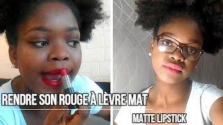 Faire un gommage de ses lèvres et rendre son rouge à lèvre mat-(matte lipstick)💄