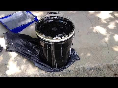 Applying RustBullet to a Concrete Garage Floor - Garage 1 of 3
