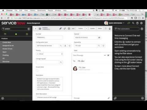 ServiceNow Demo How to use Connect Chat