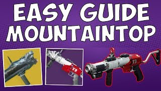 Easy Guide for Mountaintop!  Comp Help + In Pursuit of Honor - Destiny 2 Guides
