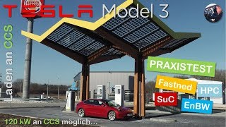 Tesla Model 3 Performance: Laden an CCS | Praxistest