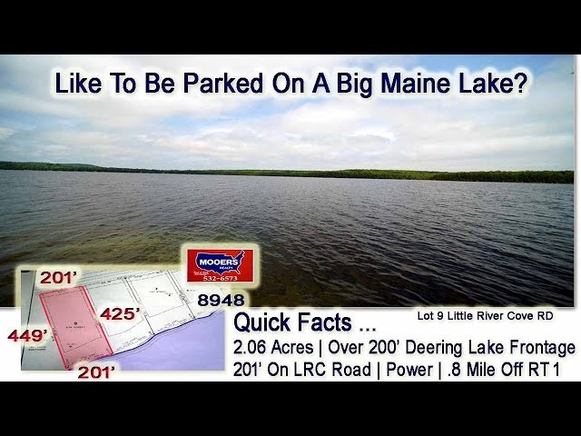 Lake Lot In Maine | Waterfront Deering Lake Land For Sale MOOERS REALTY #8948