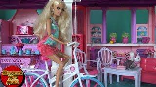 Барби Мультик на русском новые серии Куклы Барби 2016, Беременная Барби на велосипеде