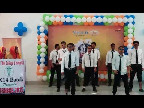 Freshers group dance 2015 batch.Government Tibbi College & Hospital Patna