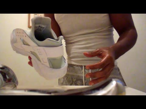 """How to clean  """"nike huarache white"""" pt.1"""