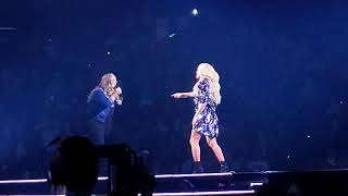 Carrie Underwood performs The Champion with guest performer Alexandria Leavenworth in Oakland, CA