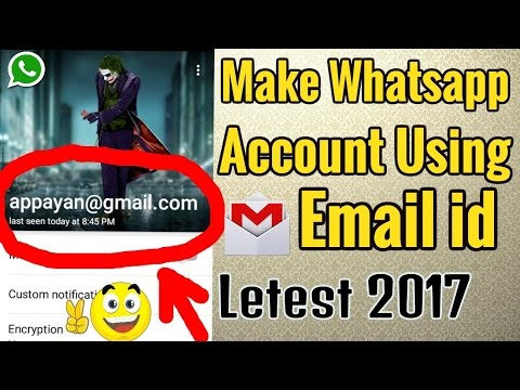 Make Whatsapp account using Email id no mobile number required