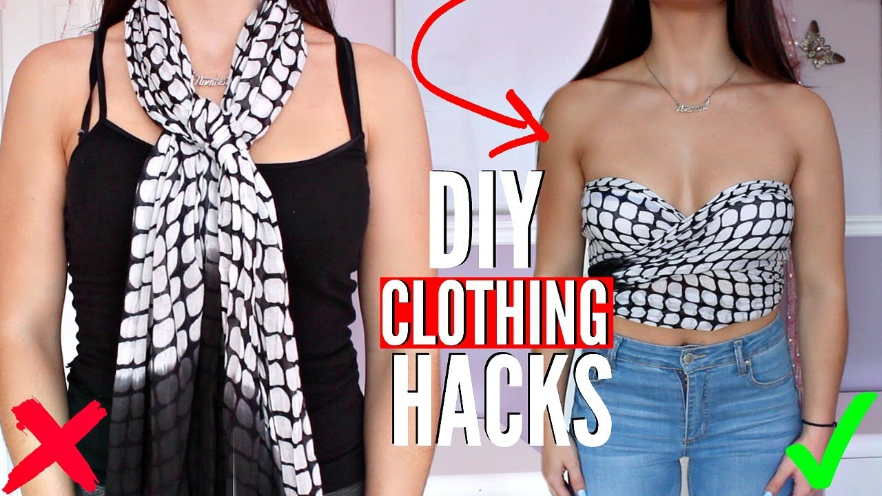 5 DIY Clothing Hacks EVERY Girl MUST KNOW! How to Upcycle ...