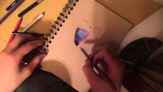 How To Draw A Galaxy With Color Pencils