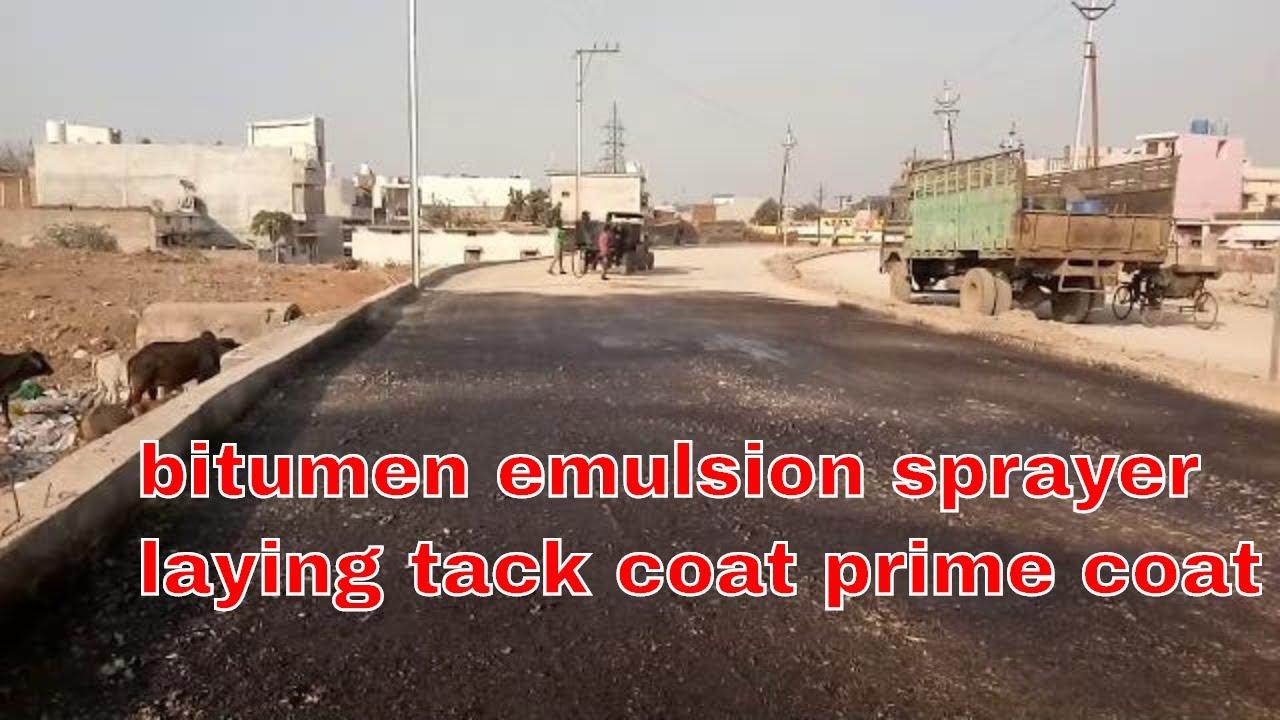 bitumen emulsion sprayer laying tack coat prime coat for dense bituminous  macadam work at road const