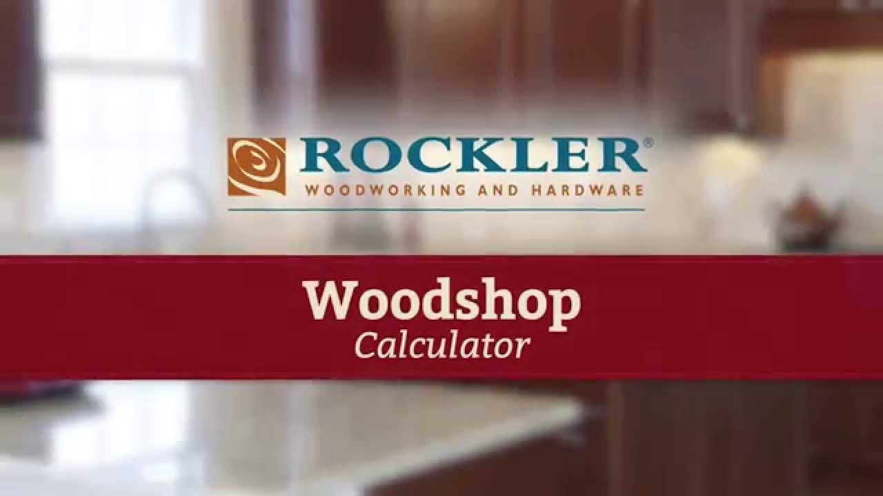 Woodshop Calculator for Making Cabinet Doors - YouTube
