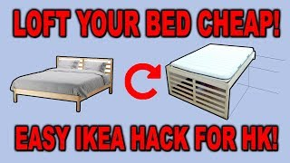 """How To Loft An Ikea Bed - """"the Tarva Inversion"""" - Ikeahack For Window Ledge Lofting - Clueless Dad"""