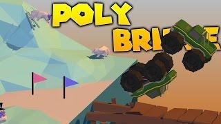 Poly Bridge Gameplay - Monster Truck Madness - New Worlds! New Fun! - Snow Drift