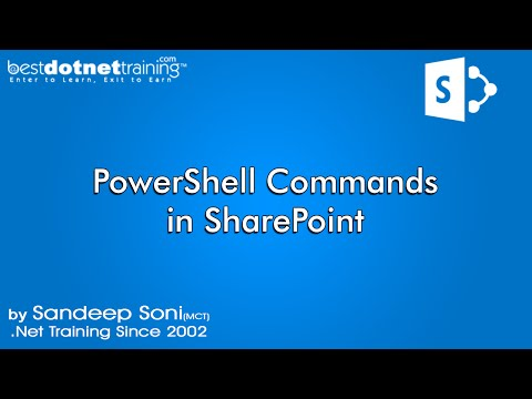 Using Windows PowerShell With SharePoint 2010 - Part 11