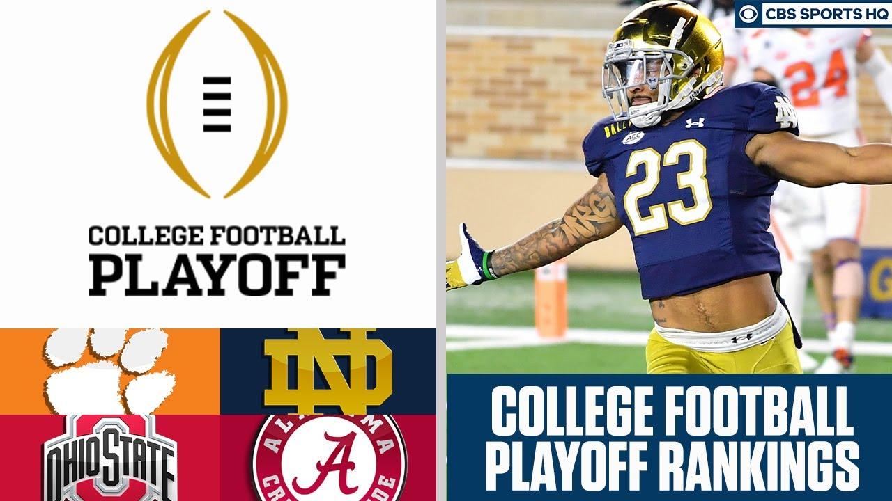 College Football Playoff Rankings: Alabama, Notre Dame, Clemson ...