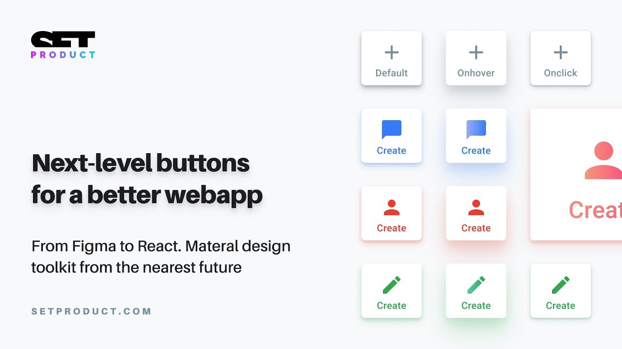 Figma to React components  Buttons section overview