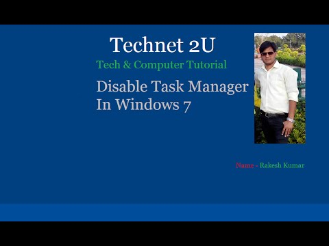How To Enable/Disable Task Manager In Windows 7
