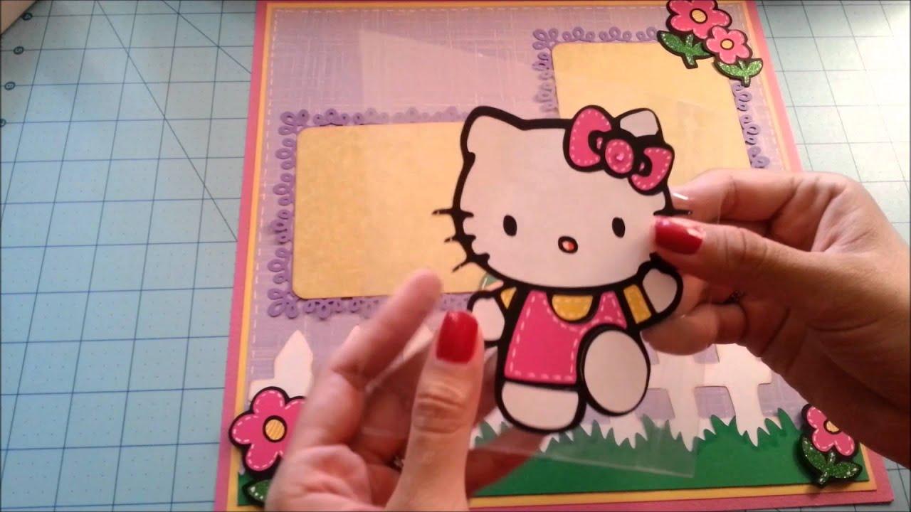 Scrapbook ideas hello kitty - Hello Easter Cricut Hello Kitty Easter Scrapbook Layout