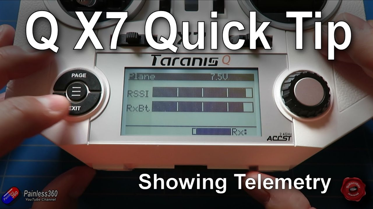 Taranis Q X7 Quick Tips: Setting up and using/showing telemetry (RSSI etc )