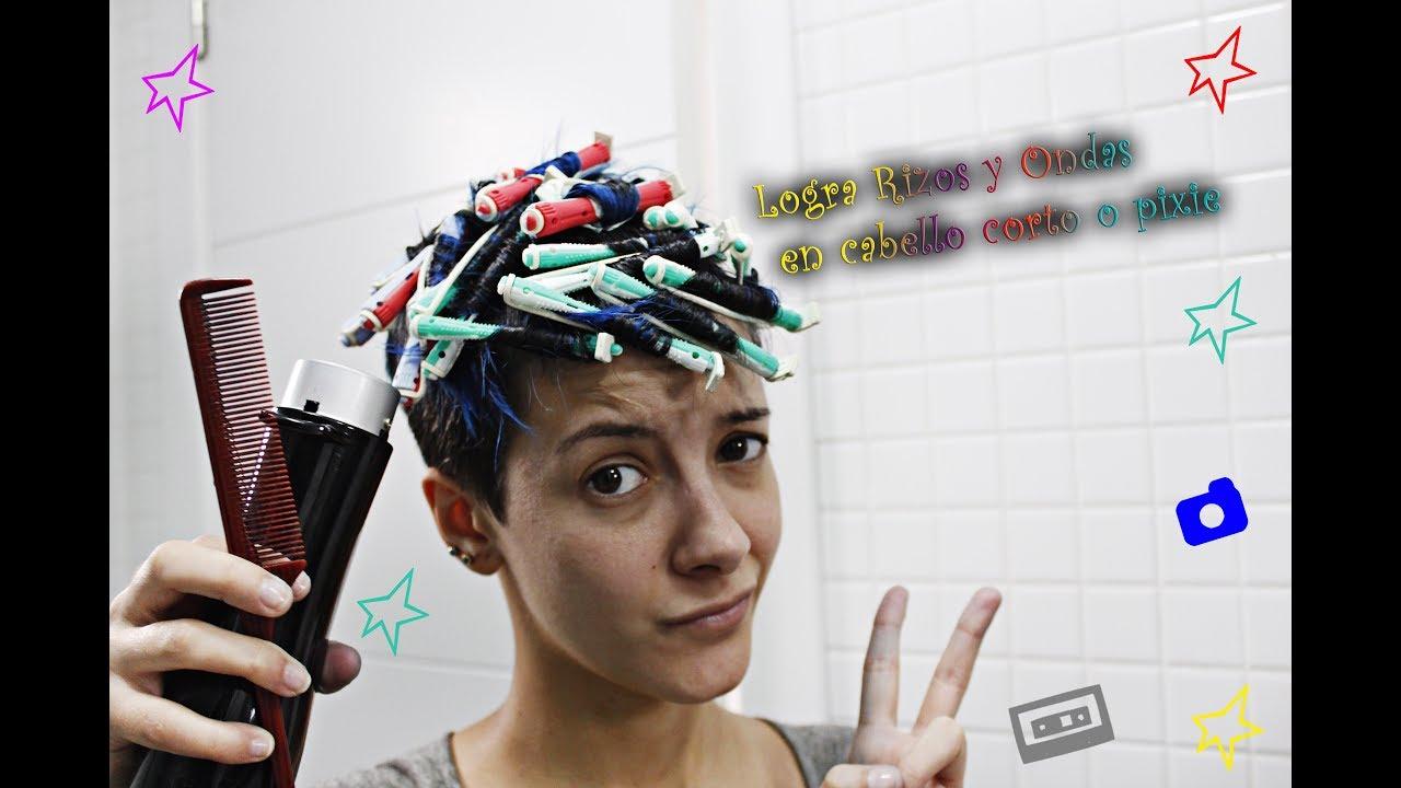 Logra Rizos Y Ondas En Cabello Corto O Pixiestyling Short Hair Shorthairdontcare Littlefenu