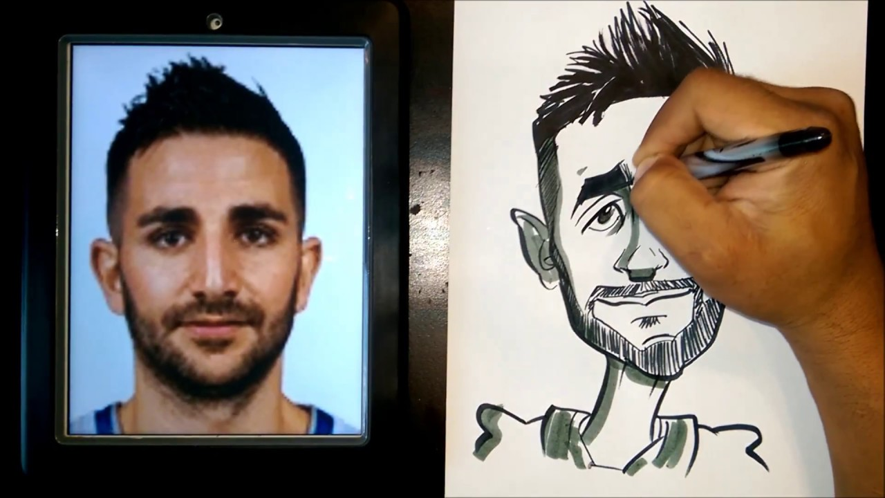 How To Draw A Quick Caricature Ricky Rubio