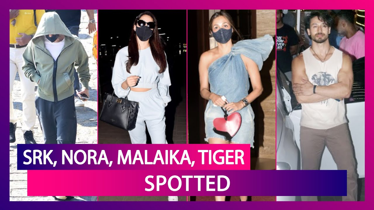 Shah Rukh Khan At Gateway Of India, Sports Hoodie; Nora Fatehi, Malaika Arora, Tiger Shroff Spotted