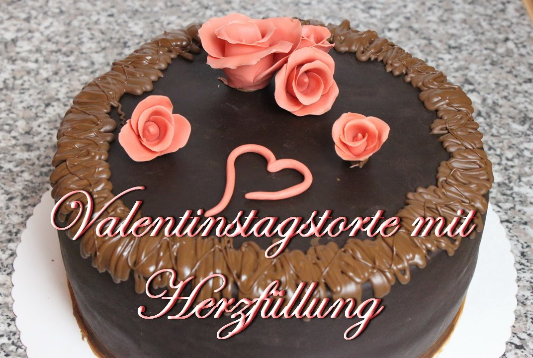 valentinstags torte mit herzf llung torten selber machen. Black Bedroom Furniture Sets. Home Design Ideas