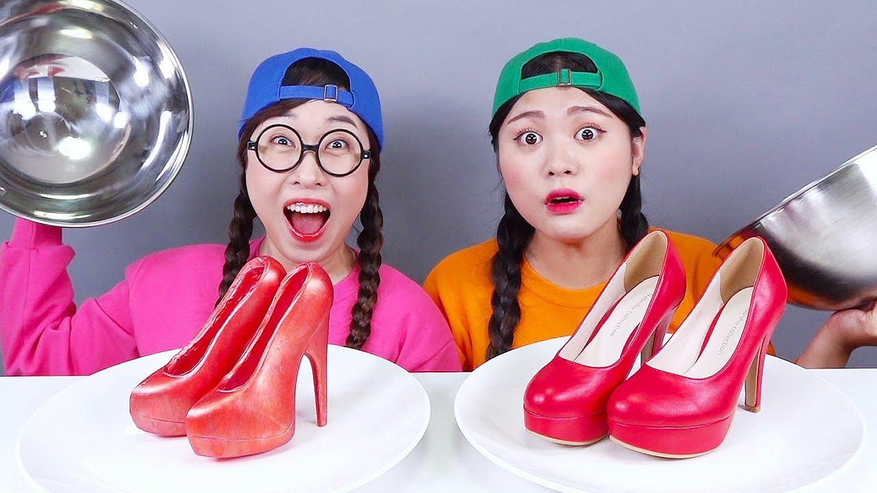 Download REAL FOOD VS JELLY CHOCOLATE FOOD CHALLENGE DONA Mukbang