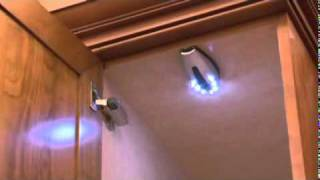 Fabu-lites Wireless Cabinet Led Light, Seven Led, Silver Presented By Woodcraft